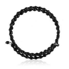 Bransoletka perła czarna szlifowana - PEB71