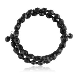 Bransoletka perła czarna szlifowana - PEB72