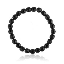 Bransoletka perła czarna szlifowana - PEB74