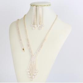 Komplet biżuterii - kryształki - Xuping - SKO80