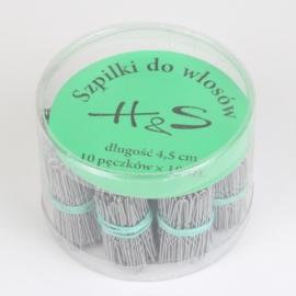 Szpilki do włosów 100szt. - silver 4,5cm SZPIL57