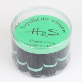 Szpilki do włosów 100szt. - black 4,5cm SZPIL59