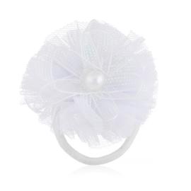 Gumka ozdobna biała - komunijna - OG381