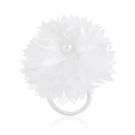 Gumka ozdobna biała - komunijna - OG382