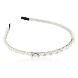 Opaska biżuteryjna perełki kryształki 12szt OPS236