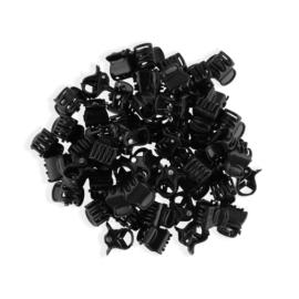 Żabki do włosów palstikowe czarne 100szt. ZW60
