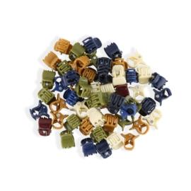 Żabki do włosów palstikowe mix kolorów 100szt ZW60