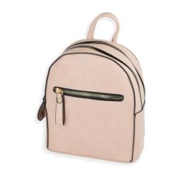 Plecak damski mały - pudrowy róż - TD366