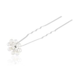 Szpilka kokówka - perełkowy kwiatek 6,5cm SZPIL64
