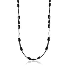 Naszyjnik perła czeska czarna - PER426
