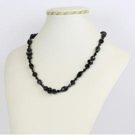 Naszyjnik perła czeska czarna - PER427