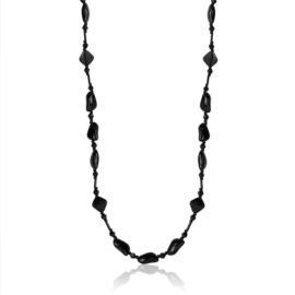 Naszyjnik perła czeska czarna - PER441
