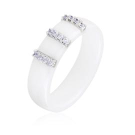 Pierścionek ceramiczny kryształki - Xuping PP2433