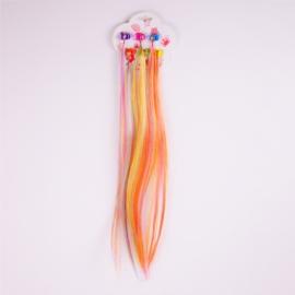 Żabki - sztuczne włosy - wielokolorowe - ZW63