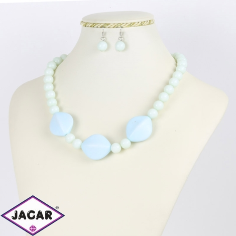Komplet biżuterii - błękitny - KOM177