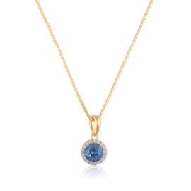 Naszyjnik Swarovski - blue crystal - Xuping CP2698