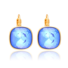 Kolczyki Swarovski - blue 2cm - Lisha EAP12008