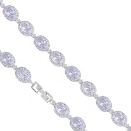 Bransoletka wieczorowa z kryształami - BP5246