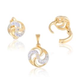 Komplet biżuterii - spirala - Xuping PK505