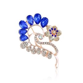 Broszka kwiatek niebieski - 5,5cm BR493