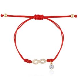 Bransoletka - czerwona nitka - BP5287