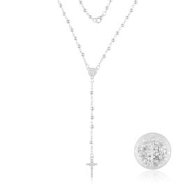 Różaniec w kolorze srebra - RO115