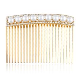 Grzebień ozdobny do włosów z perłami - G87