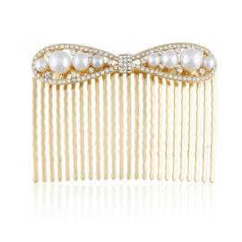 Grzebień ozdobny do włosów z perłami - G88