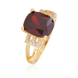 Pierścionek z czerwonym kryształem - Xuping PP2393