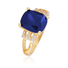 Pierścionek z niebieskim kryształem Xuping PP2394
