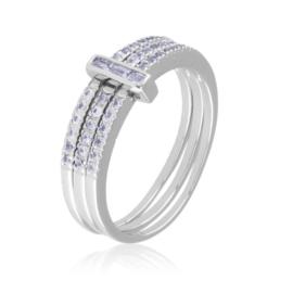 Pierścionek potrójny - Xuping PP2045
