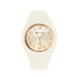 Zegarek silikonowy gradient - ecru - Z1205