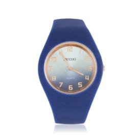 Zegarek silikonowy gradient - granatowy - Z1206