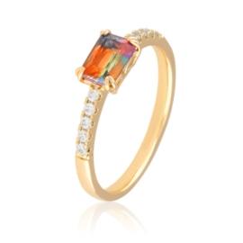 Pierścionek z kolorowym kryształem - Xuping PP2494