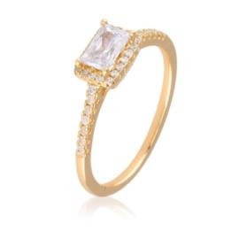 Pierścionek - prostokątny kryształ - Xuping PP1978