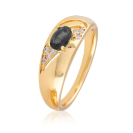 Pierścionek - czarne oczko - Xuping PP2379