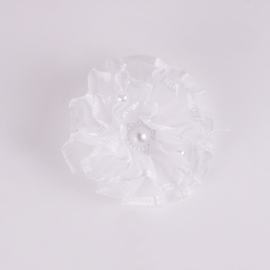 Gumka ozdobna biała - komunijna - OG493