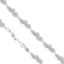 Bransoletka listki z kryształkami Xuping - BP5396