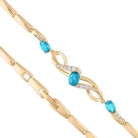 Bransoletka z kryształkami blue Xuping - BP5401