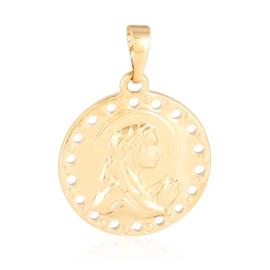 Medalik pozłacany - 2,8cm - PRZ2329