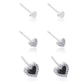 Kolczyki sztyfty - zestaw 3 par - Xuping EAP12596
