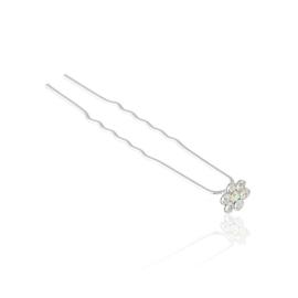 Kokówka z kryształowym kwiatkiem - 6cm - SZPIL90