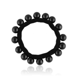 Gumka czarna z perełkami - OG508
