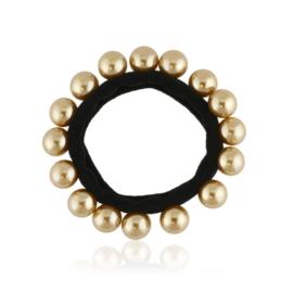 Gumka czarna z perełkami - OG509