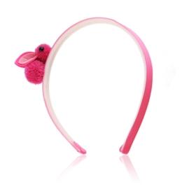 Opaska do włosów - różowe króliczki - OPS309