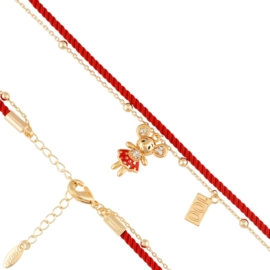 Bransoletka na sznureczku - myszka - Xuping BP5471