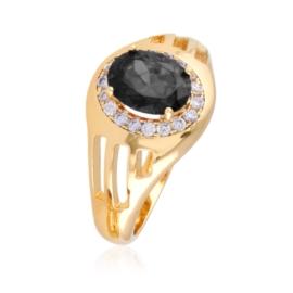 Pierścionek z czarnym oczkiem - Xuping - PP2390