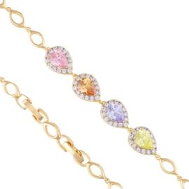 Bransoletka - kolorowe kamienie - Xuping BP5474