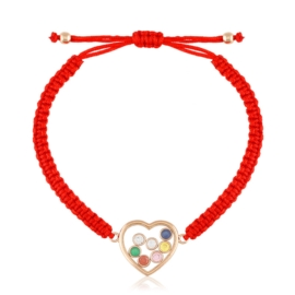 Bransoletka na sznureczku - serce - Xuping BP5492
