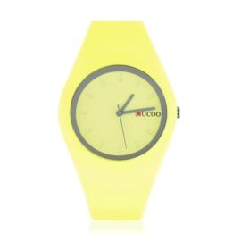 Zegarek silikonowy - żółty neon - Z1238